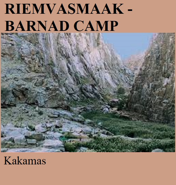 Riemvasmaak Barnad Camp - Kakamas