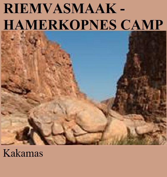 Riemvasmaak Hamerkopnes Camp - Kakamas