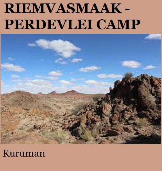 Riemvasmaak Perdevlei Camp - Kuruman