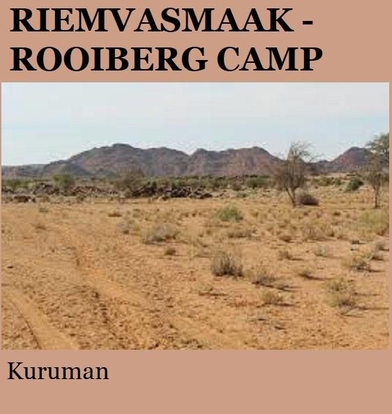 Riemvasmaak Rooiberg Camp - Kuruman