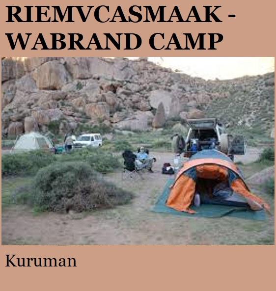 Riemvasmaak Wabrand Camp - Kuruman