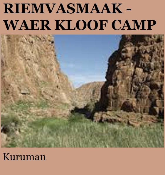 Riemvasmaak Waer Kloof Camp - Kuruman