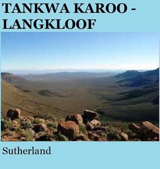 Tankwa Karoo Langkloof - Sutherland