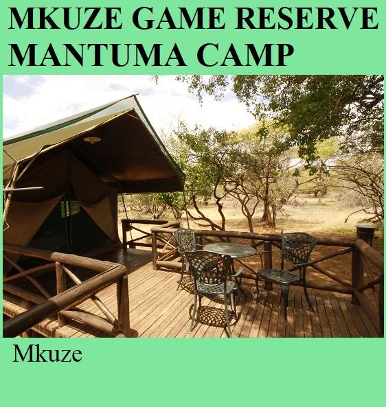 Mkuze Game Reserve Mantuma Camp - Mkuze