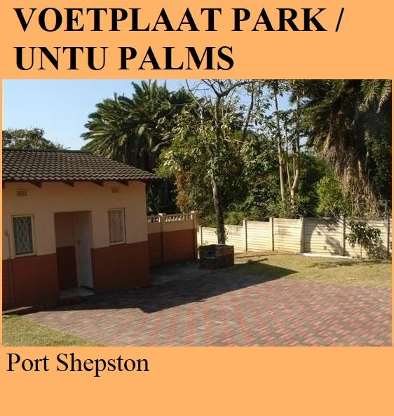 Voetplaat Park TA Untu Palms Caravan Park - Port Shepston